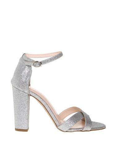Beymen Studio Beymen Studio Kadın Simli Silver Topuklu Ayakkabı Gümüş